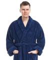MENS LONG SHAWL FLEECE BATHROBE