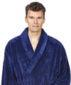 Mens Shawl Fleece Bathrobe