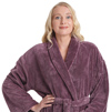 Womens sateen plush shawl bathrobe