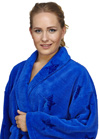 Shawl Fleece Star Design Bathrobe
