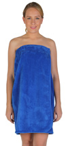 Womens Velour Cotton Fleece Bath Wrap